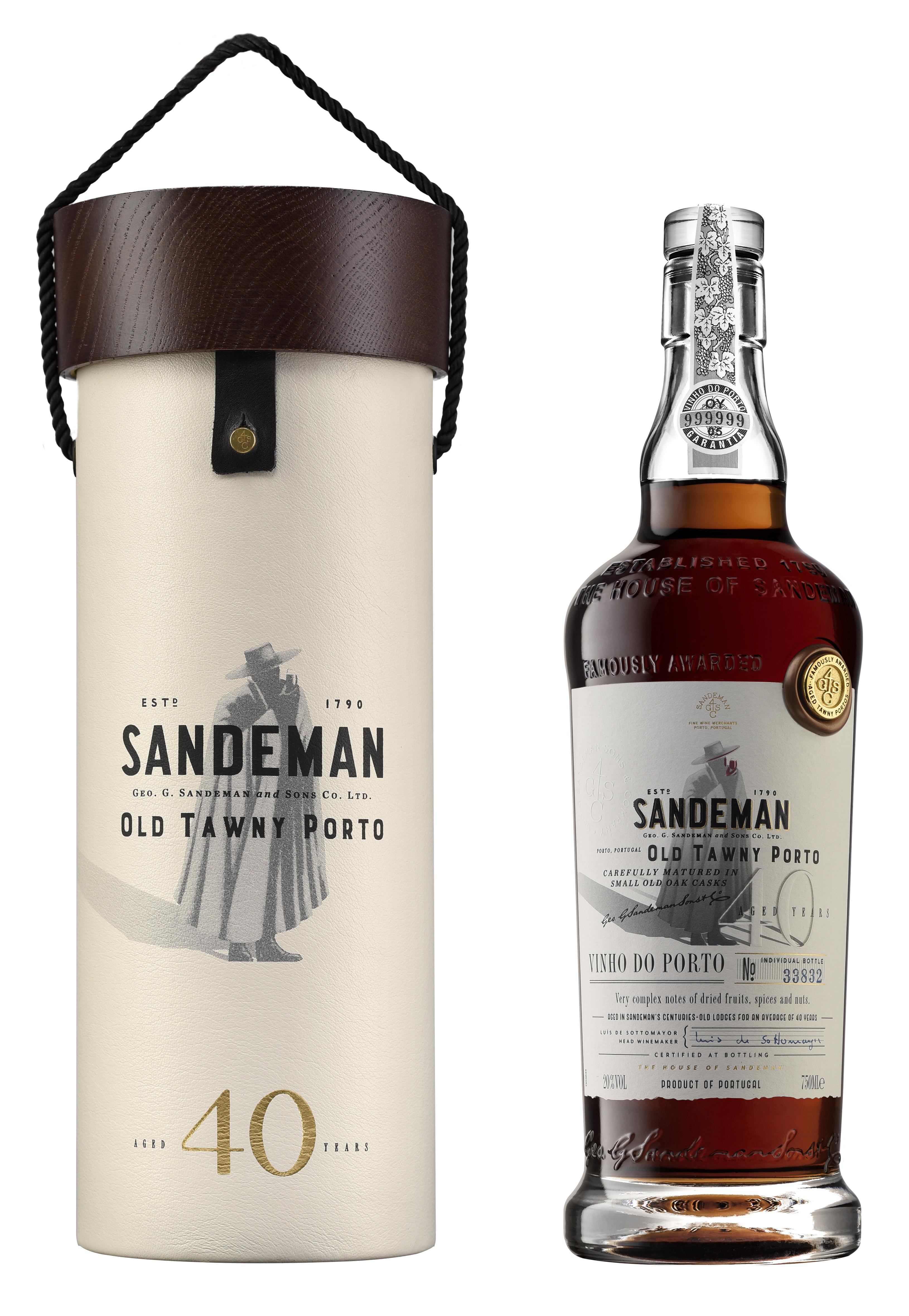 Sandeman Port, 40 Year Old Tawny Port Wooden Box NV