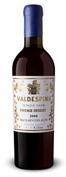 Valdespino, Palo Cortado `Single Cask` Macharnudo Alto, 2000, 37.5cl